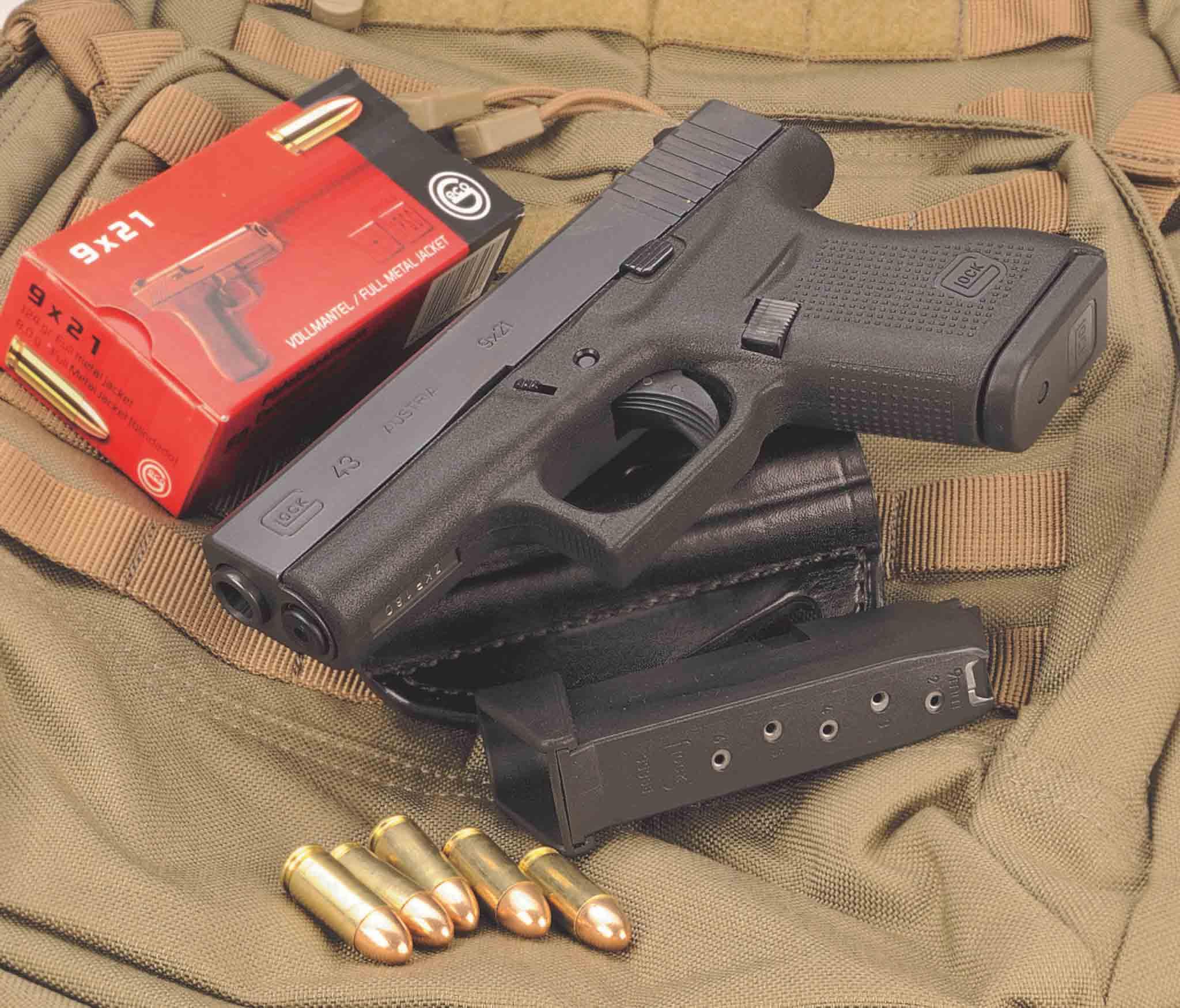 Glock43 Calibre 9x21 IMI