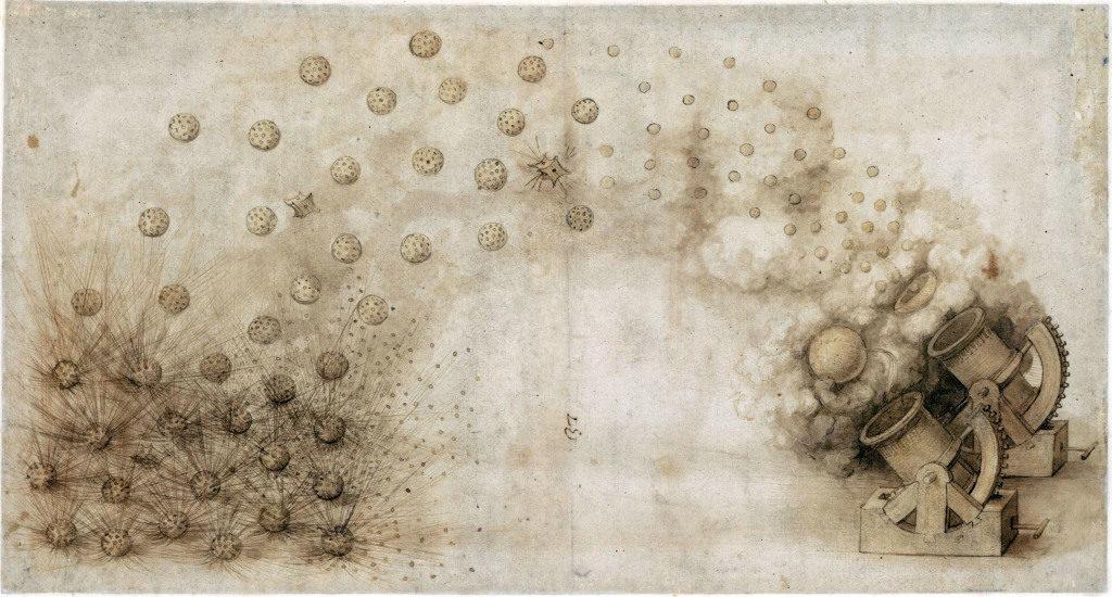 Leonardo da Vinci se ocupó de balística por los cañones (1452-1519) - Por Redacción Espacio Armas