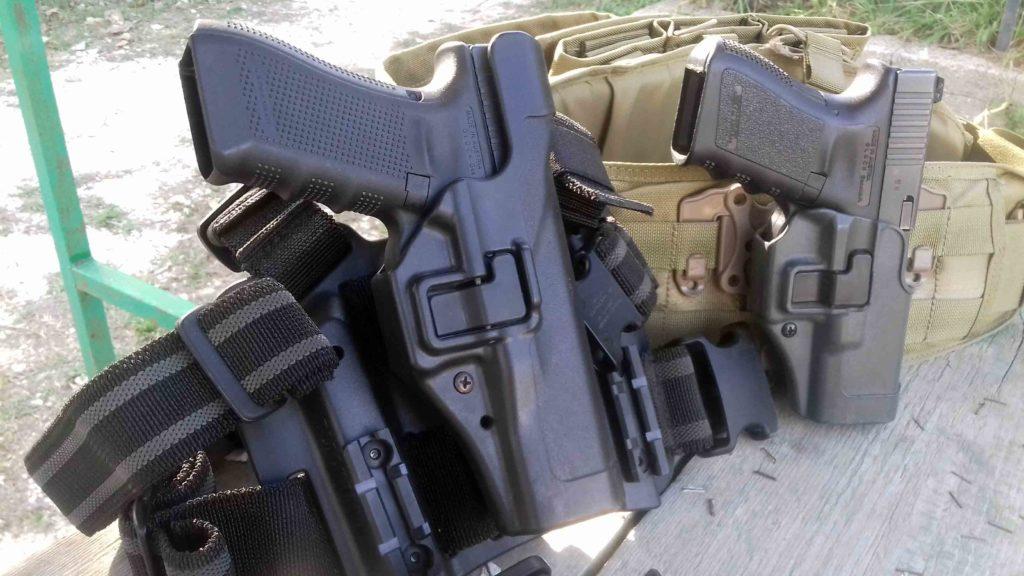 Funda al muslo Blackhawk Serpa Tactical y funda Blackhawk Serpa Sportster - Por Redacción Espacio Armas