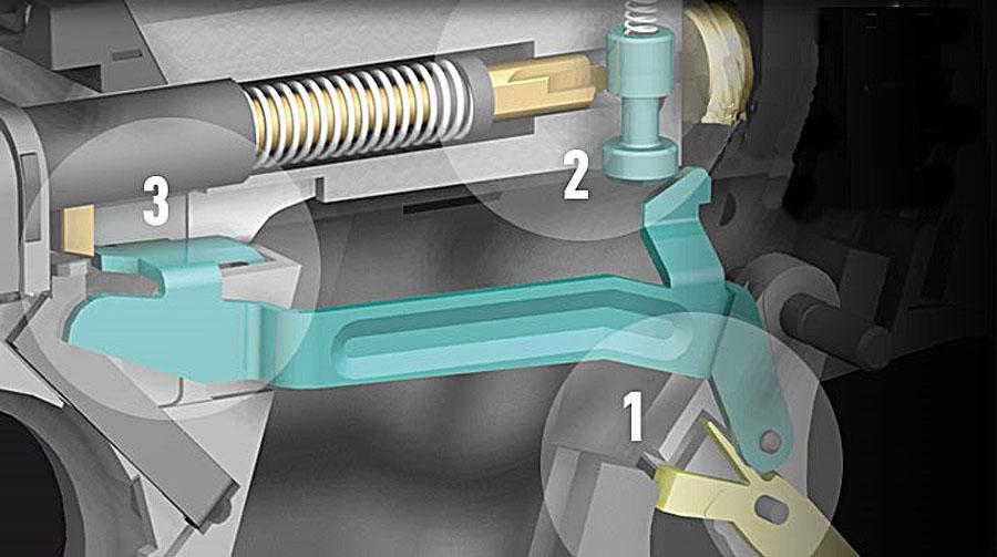 Glock 19. Imagen de la mecánica de la Glock 19 - Por Redacción Espacio Armas