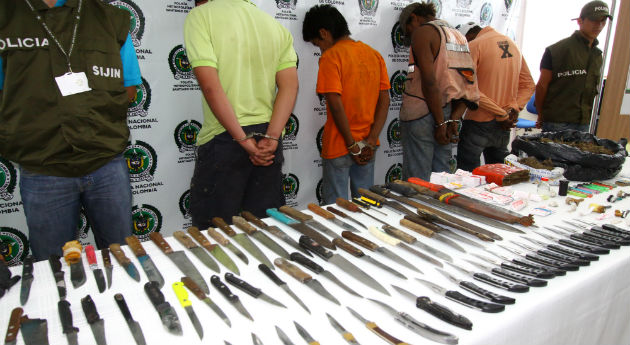 Casi 50.000 objetos cortopunzantes incautados por la Policia Redaccion Espacio Armas