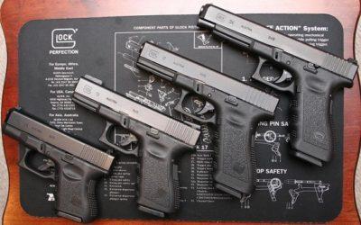 Dimensión de la pistola por cada tirador