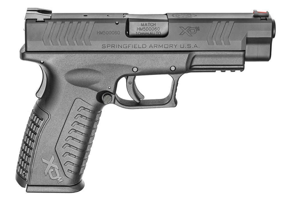 Springfield XDM Ca. 10 mm 4.5 pulgadas, color negro. Redacción Espacio Armas