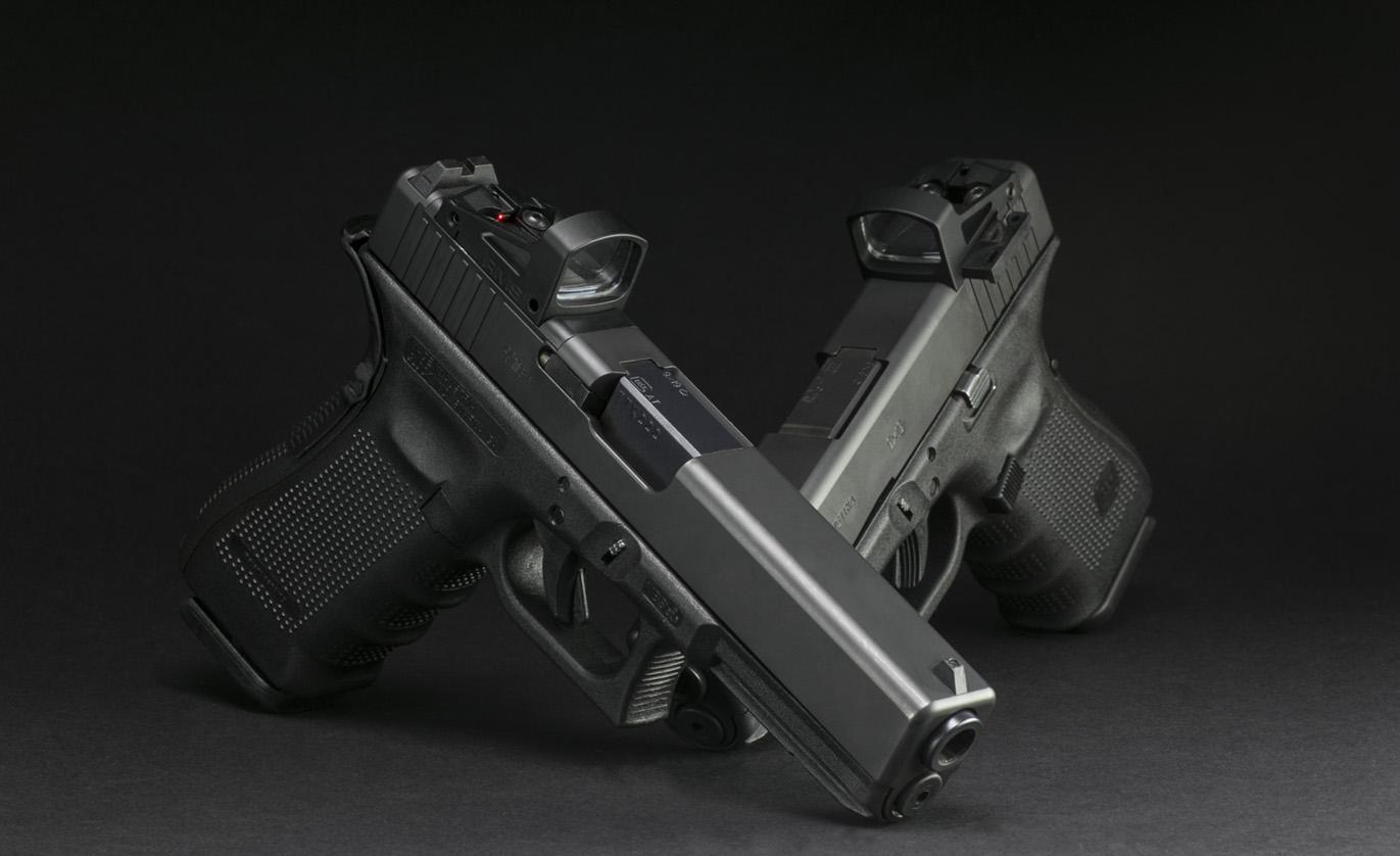 Glock con RMS de Shield Sights. Redacción Espacio Armas.