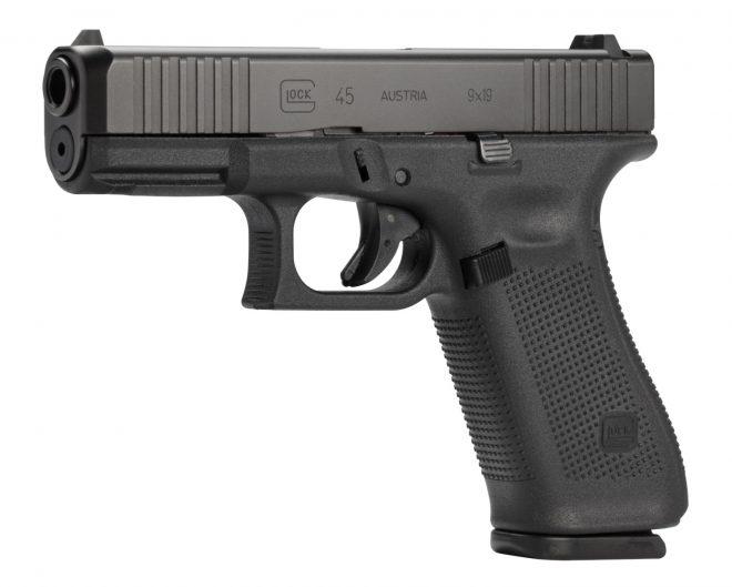 Pistola Glock 45, cal 9 mm. Redacción Espacio Armas