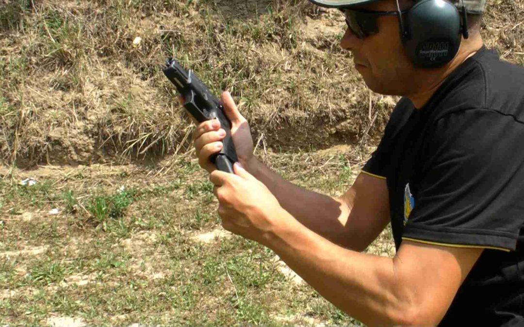 Cambio de cargador con pistola, procedimiento operativo