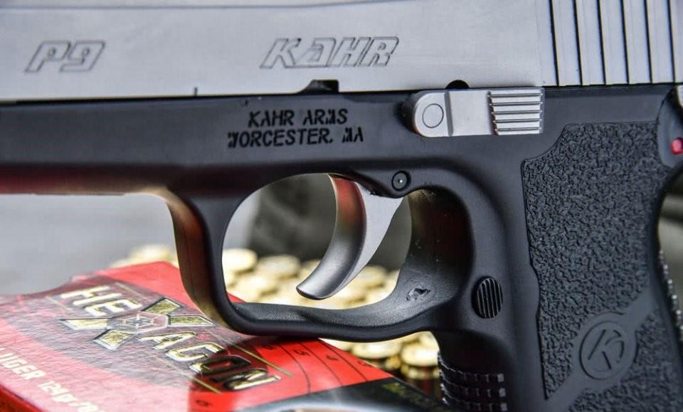 Armazón de polímero de la pistola Khar P9 Duotone. Redacción Espacio Armas
