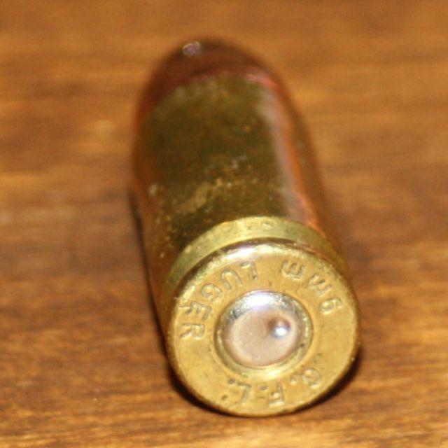 Munición de pistola sin explotar. Redacción Espacio Armas
