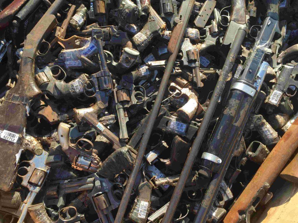 Armas listas para ser destruidas. Redacción Espacio Armas.