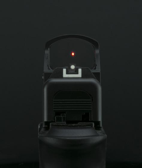 Vista del tirador del sistema RMS-W. Fuente Shield Sights. Redacción Espacio Armas