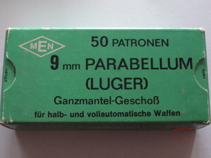 Caja de municiones cal. 9 mm Parabellum