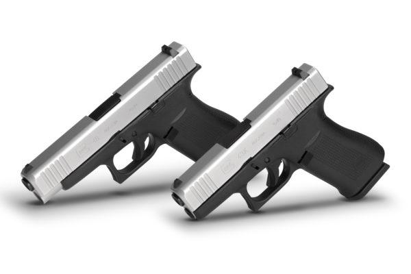 Izquierda Glock 48, derecha Glock 43 X. Fuente Glock. Redacción Espacio Armas.