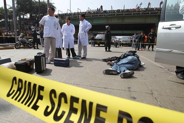 Escena del crimen en Perú. Redacción Espacio Armas