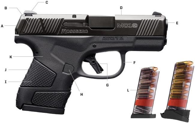 Detalles de la pistola MS1sc. Redacción Espacio Armas.