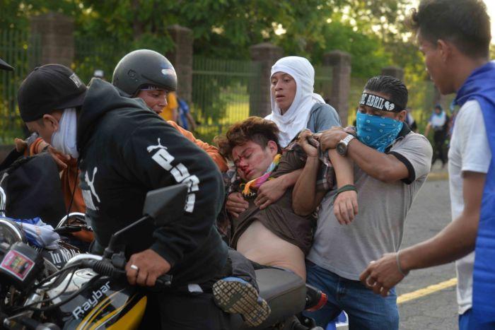 Política de seguridad en Nicaragua durante la represión de Daniel Ortega.