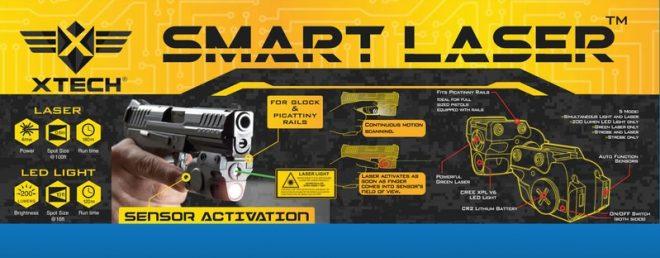 Láser 200 lúmenes para pistolas, XTech Tactical y Gun Dynamics