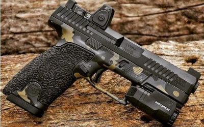 Pistola CzP 10 C tuneada.