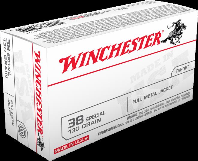 Aviso de advertencia y retiro del mercado de la Winchester en 130 Grain Full Metal Jacket  en cal .38 Special