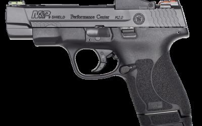 Versión con un cañón de 4 pulgadas. M$P Shield M 2.0. Fuente Smith&Wesson: Sistema óptico de punto rojo. Redacción Espacio Armas.