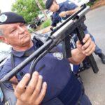 Ametralladora artesanal incautada por la policía en Brasil