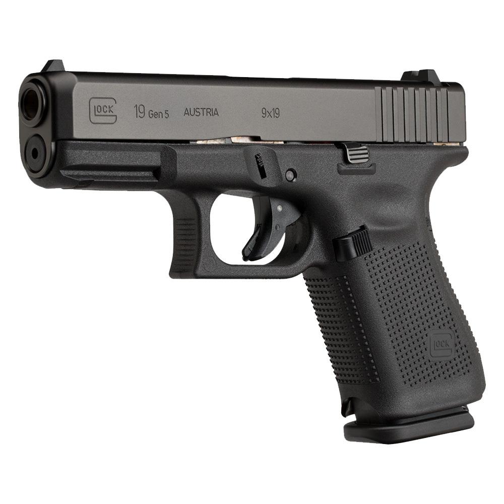 Glock 19, gen 5 en cal. 9 mm,. Redaccion Espacio Armas.