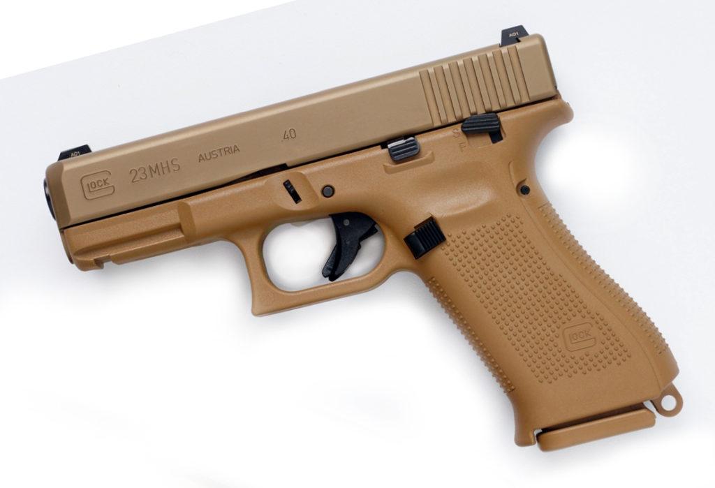 Glock 23 en cal. 40 S&W, XM 17 MHS. Fuente Armietiro.it. Redaccion Espacio Armas.