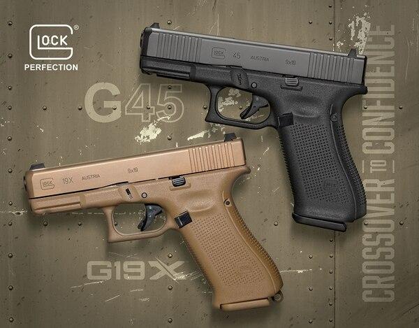 Glock 19 X y la Glock 45. Fuente Glock.com Redaccion Espacio Armas.