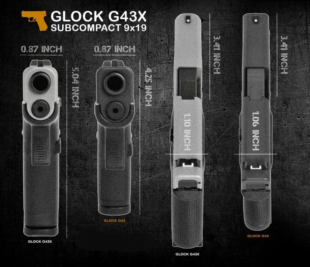Pistola Glock 43X y Glock 48 Blackslide, reseña.