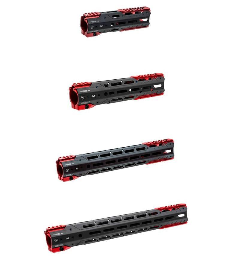 Las cuatro opciones de longitud total del sistema: 8.5 ″, 11 ″, 15 ″ y 17 ″.Fuente. Strikeindustries.com. Redaccion Espacio Armas.