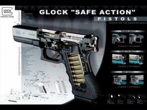 """Sistema de seguro Glock """"Safe Action"""". Fuente Glock.com. Redaccion Espacio Armas."""