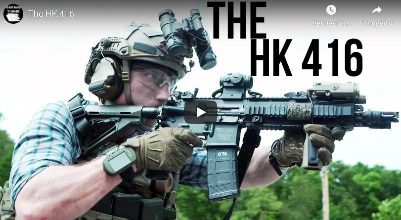 Fusil Heckler & koch 416, policía alemana de Hesse adquiere el rifle HK416. Policía de Hesse en Alemania adquierefusil en cal. 5,56.