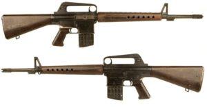 diferencia rifle AR-15 M4