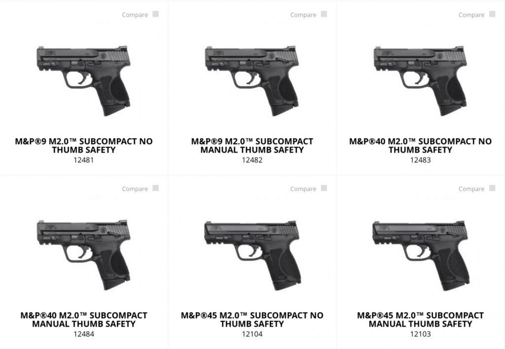 Nueva linea de pistolas S&W M2.0 Subcompactas. Fuente. smith-wesson.com/mp. Redacción Espacio Armas.