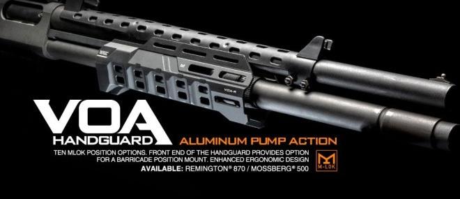 Los Handguards VOA de Strike Industries para escopetas Mossberg 500 y Remington 870