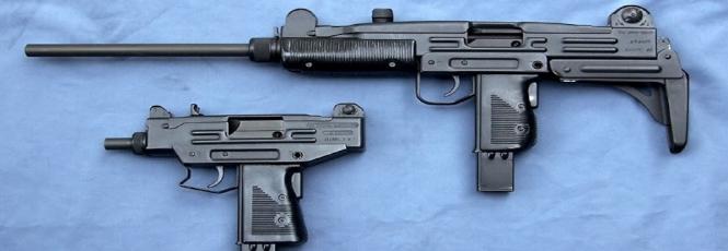 Arriba se puede apreciar el UZI Carabine. Abajo el MINI UZI. Redacción Espacio Armas.