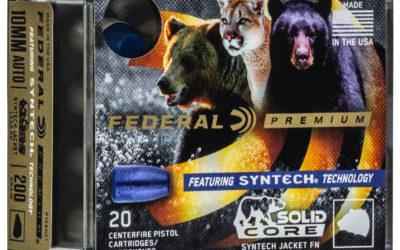 Federal SOLID CORE,  una munición para pistola con ojivas de plomo fundido recubierto de polímero