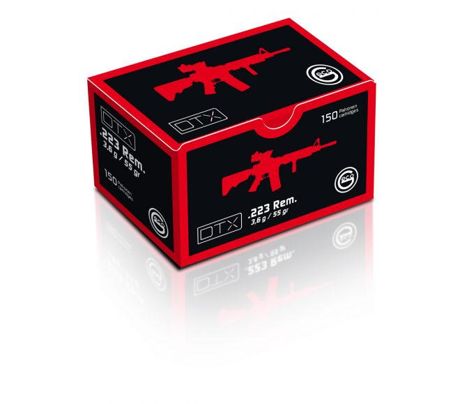 La munición Geco DTX en calibre 223 Rem. Fuente. geco-munition.de. Redacción Espacio Armas