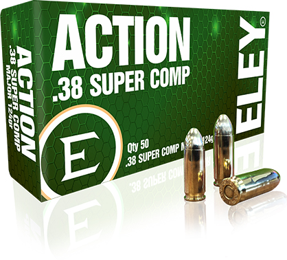 Factory .38 Super Comp de Eley para la competencias USPSA e IPSC