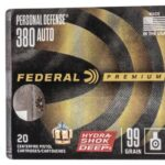Nueva munición Federal Hydra-Shok Deep en calibre 380 ACP