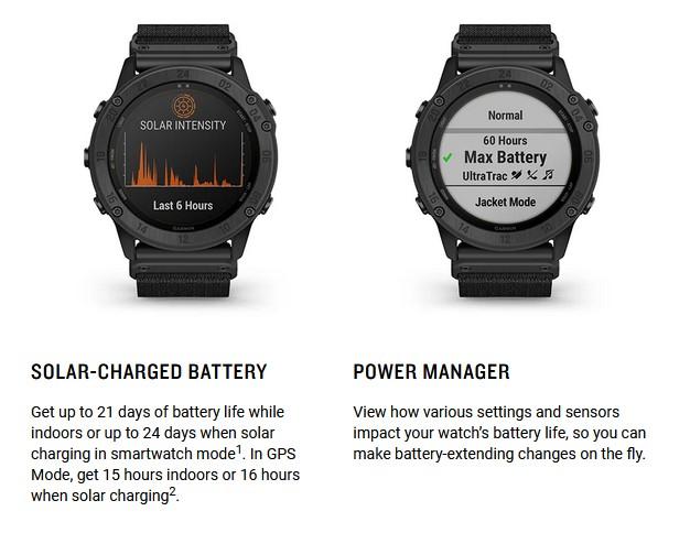 Reloj Garmin para tiradores: Tactix Delta Solar.