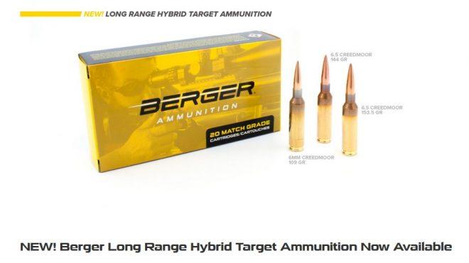 Nueva munición Berger híbrida de largo alcance