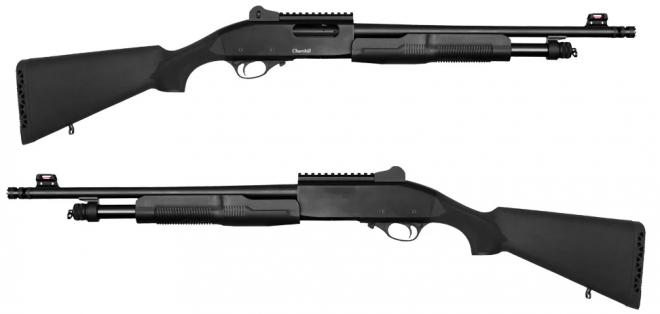 la escopeta Churchill 620 es  una escopeta de patrulla o defensa doméstica