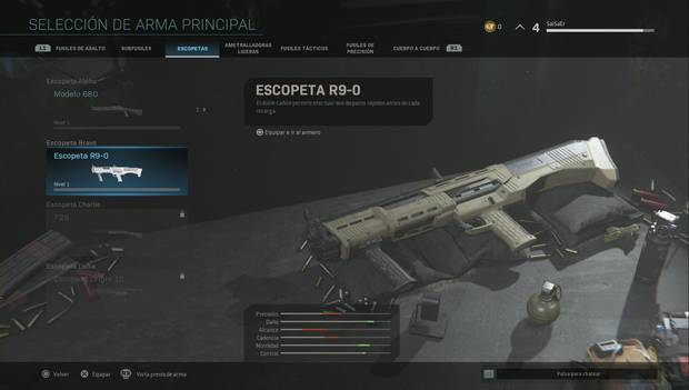 Escopeta R 9-0 en Call of Duty