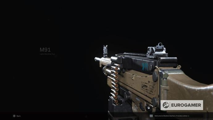 Ametralladora M91 en Call of Duty Fuente EuroGamer