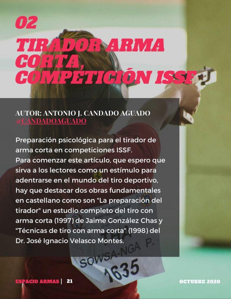 Tirador arma corta: competición ISSF