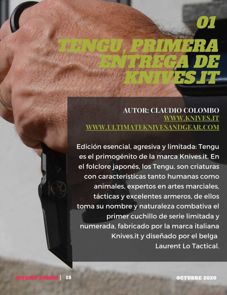Cuchillo Tengu, primera entrega de Knives.it