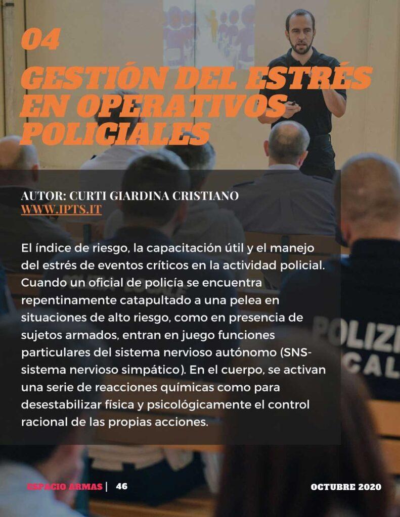 gestión estrés en operativos policiales